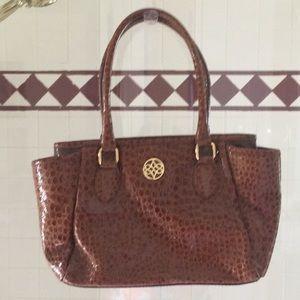 Patent leather croc embossed Antonio Melina purse